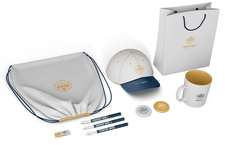 mock up of branded products