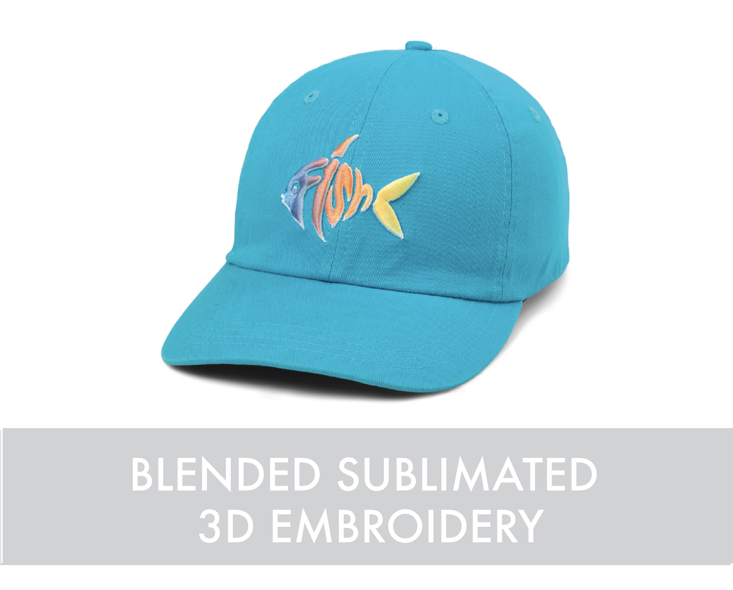 Blended sublimated 3d embroidery