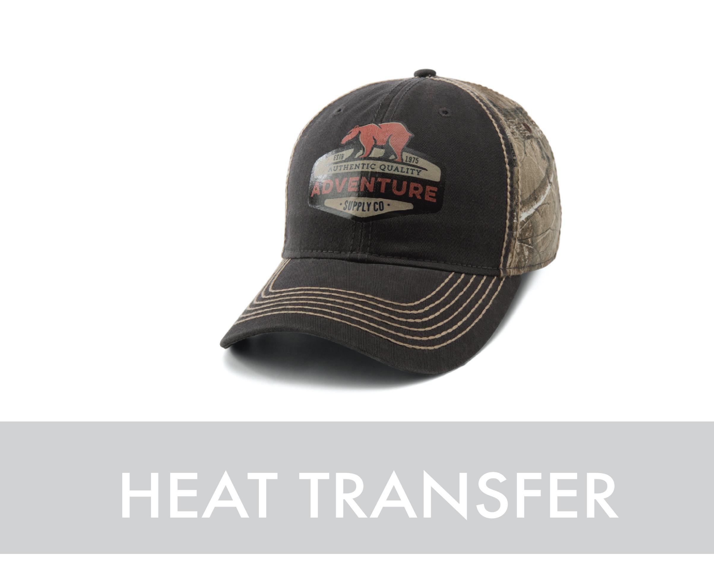 Heat Transfer Custom Logo Hat